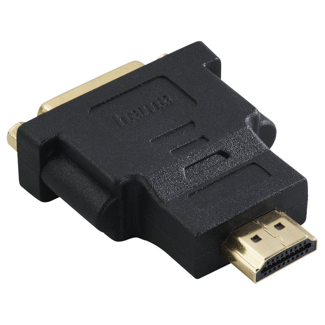 abx2 High-Res Image 2 - Hama, DVI HDMI™ Adapter, HDMI™ plug - DVI socket, gold-plated, shielded