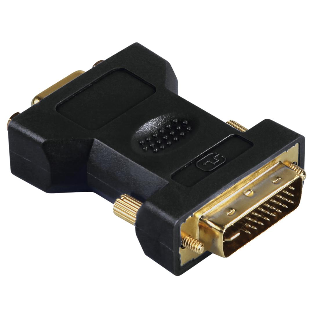 00045073 Hama Vga Dvi Adapter Dvi Plug Vga Socket Gold
