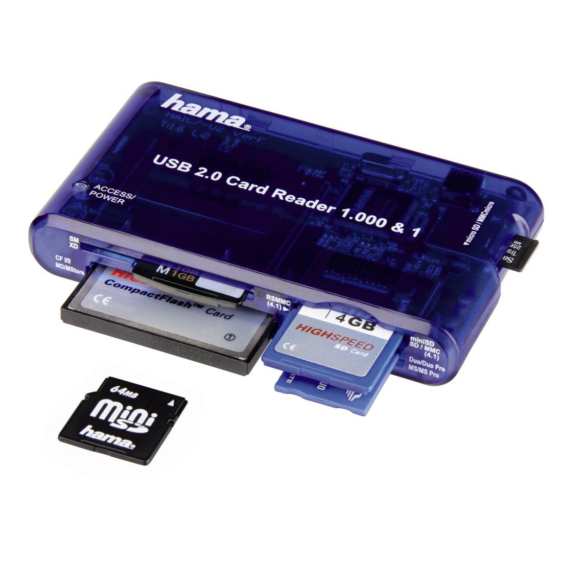 00055350 hama 1000 1 usb 2 0 multi card reader sd