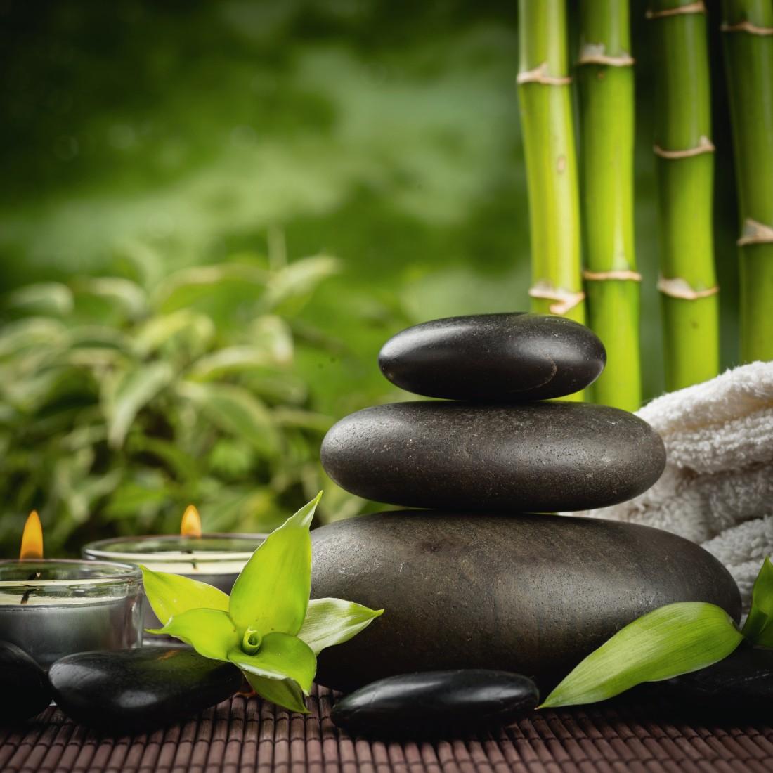 Картинки камни бамбук вода