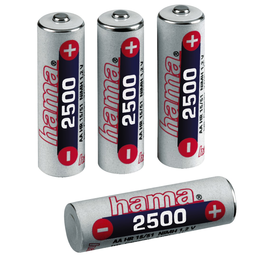 abx High-Res Image - Hama, NiMH Battery 4x AA (Mignon - HR 6) 2500 mAh