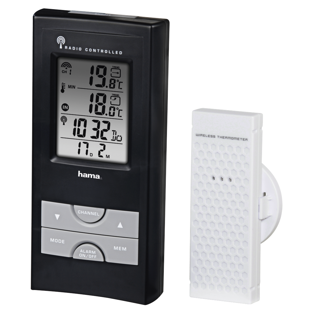 00092659 Hama Ews 165 Electronic Weather Station Black Frost Alarm 1 Article Was Added To