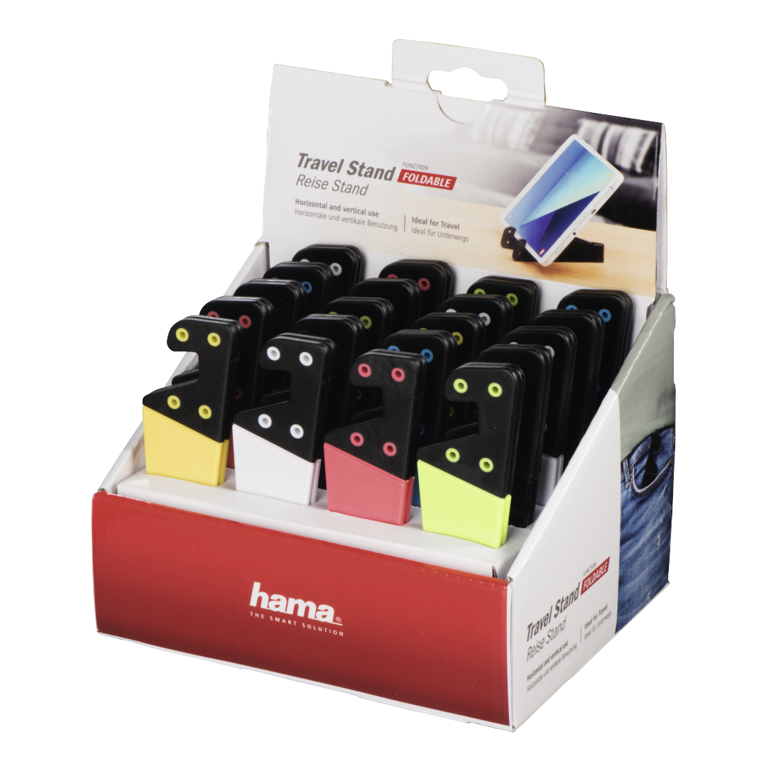 abx High-Res Image - Hama, Travel Holder for Tablets and Smartphones, 20 pieces in a display box