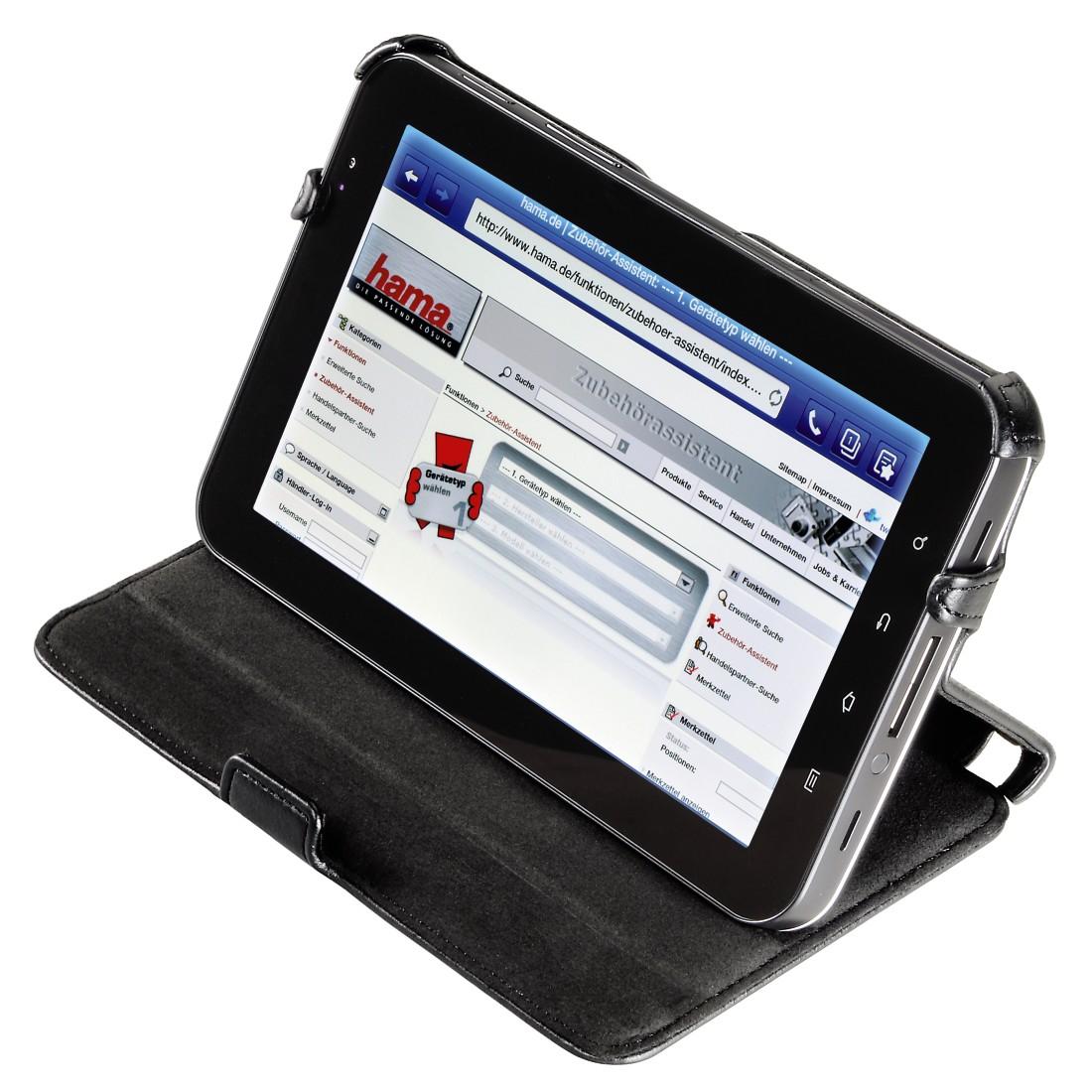 "8 Hama ""Flap Case Cross Grain"" Tablet Case for Samsung"