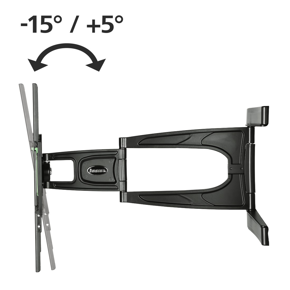 dex High-Res Detail - Hama, Ultraslim FULLMOTION TV Wall Bracket, 3 stars, 165 cm (65), 2 arms, bk