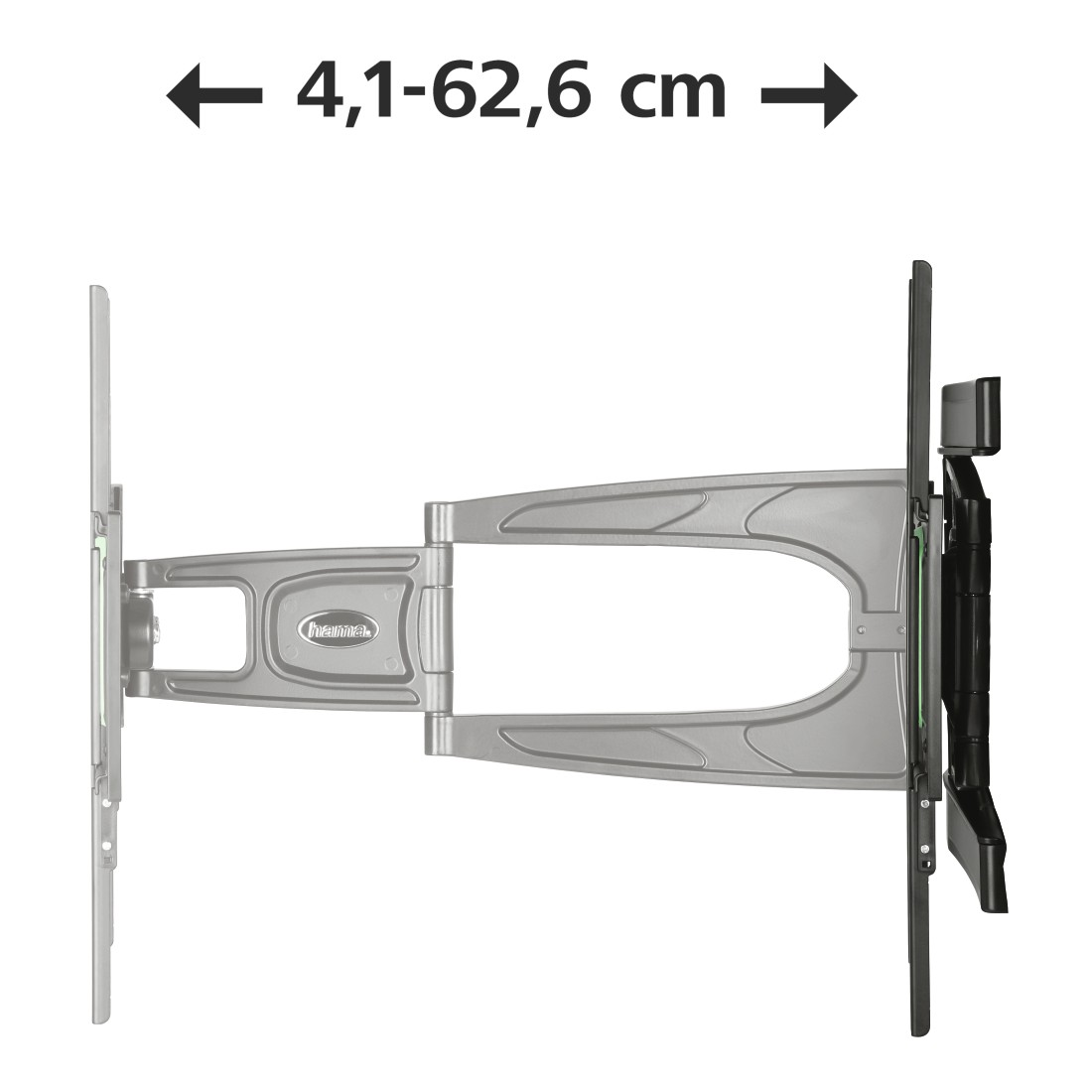 dex3 High-Res Detail 3 - Hama, Ultraslim FULLMOTION TV Wall Bracket, 3 stars, 165 cm (65), 2 arms, bk