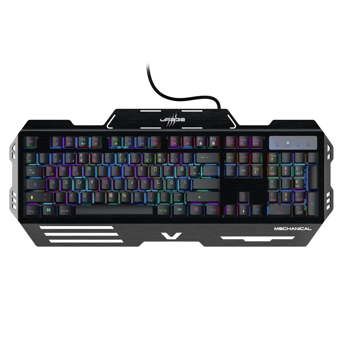 00113767 Urage Urage M3chanical Gaming Keyboard Hama Com
