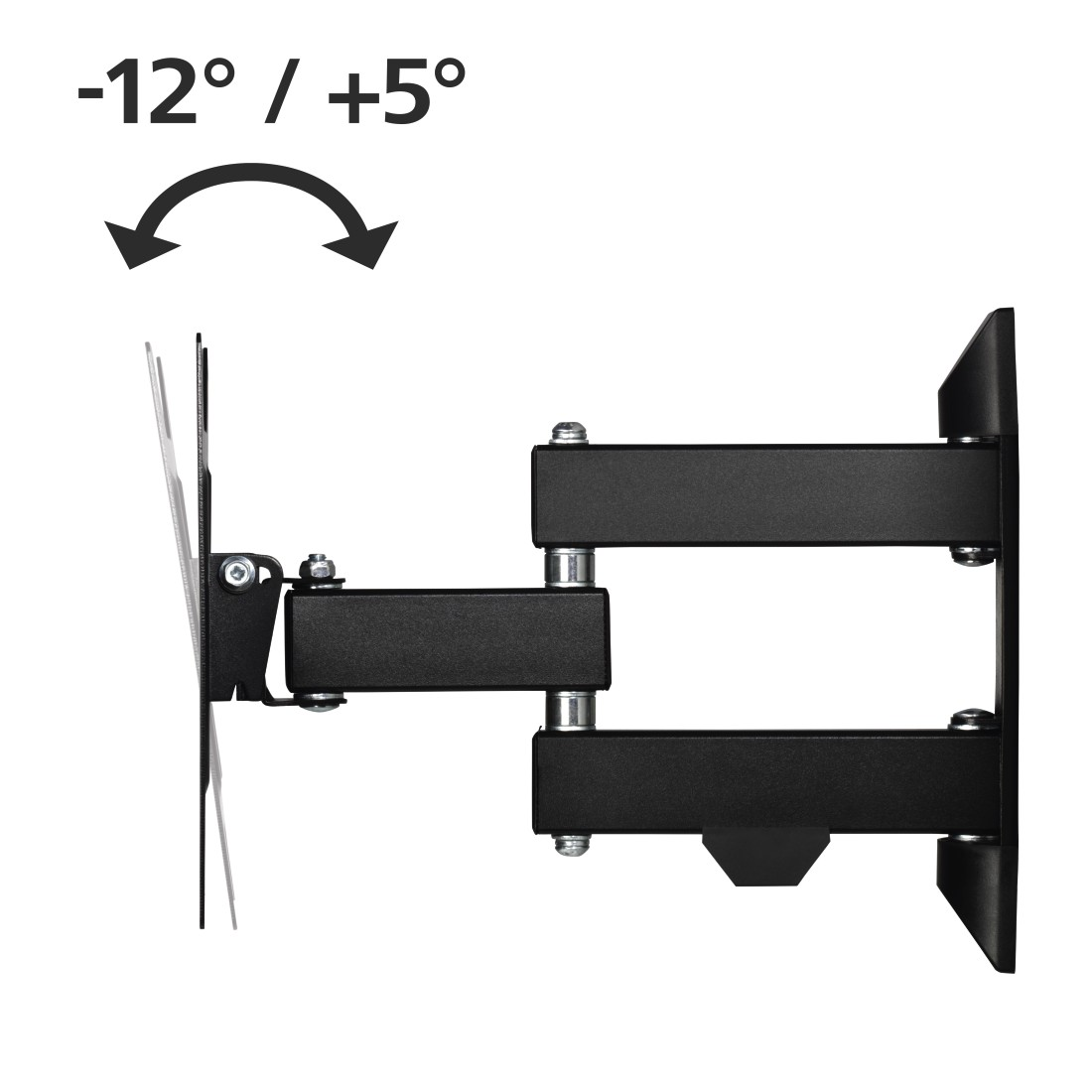 "dex High-Res Detail - Hama, FULLMOTION TV Wall Bracket, 1 Star, 200x200, 122cm (48""), 2 arms, black"
