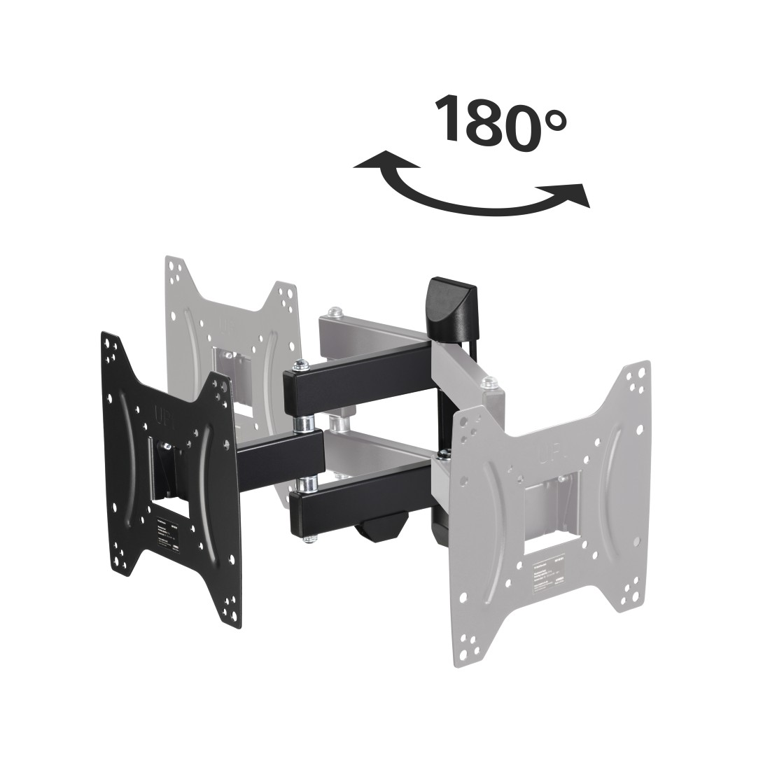 "dex2 High-Res Detail 2 - Hama, FULLMOTION TV Wall Bracket, 1 Star, 200x200, 122cm (48""), 2 arms, black"