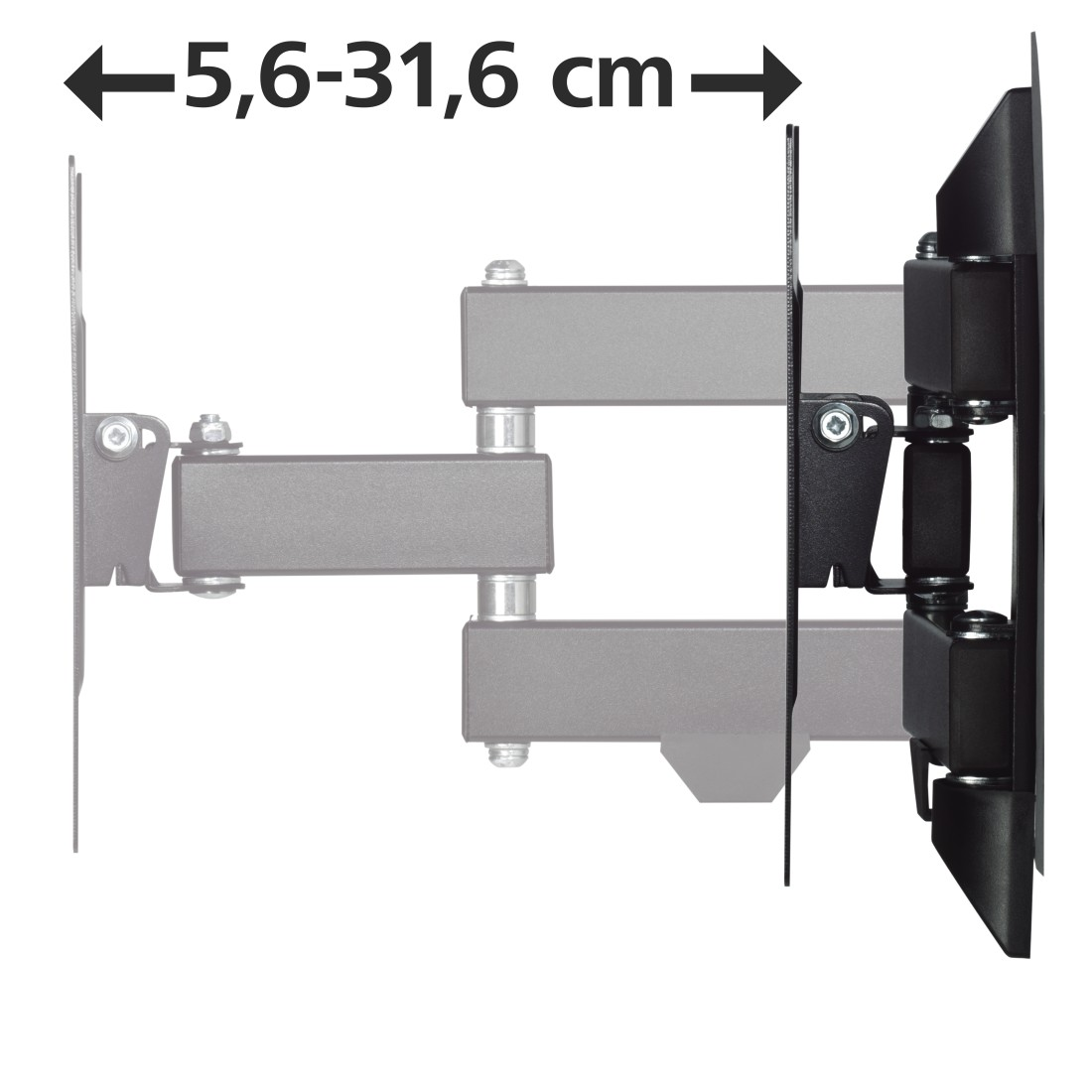 "dex3 High-Res Detail 3 - Hama, FULLMOTION TV Wall Bracket, 1 Star, 200x200, 122cm (48""), 2 arms, black"