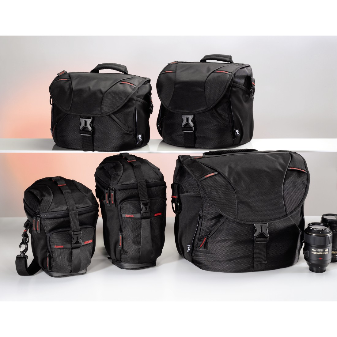 prx Druckfähiges Pressebild - Hama, Protour Camera Bag, 200, black