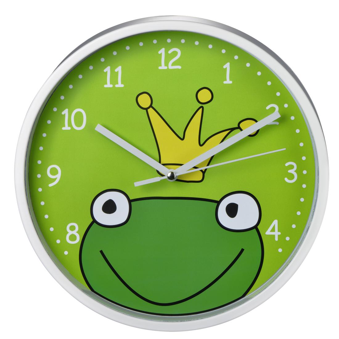 00123172 Hama Frog Prince Childrens Wall Clock Silent Hama