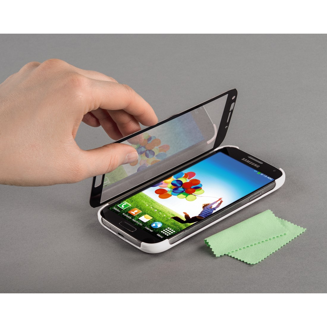 00124686 Hama Mirror Booklet Case For Samsung Galaxy S 4 White Miror Awx2 High Res Appliance 2