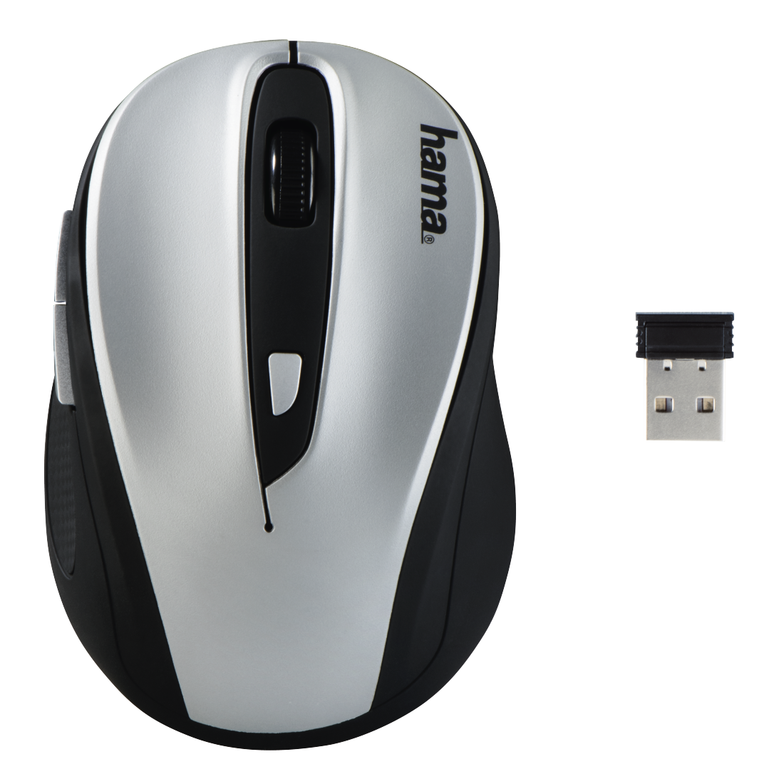 "abx High-Res Image - Hama, ""AM-8200"" Wireless Optical Mouse, black/silver"