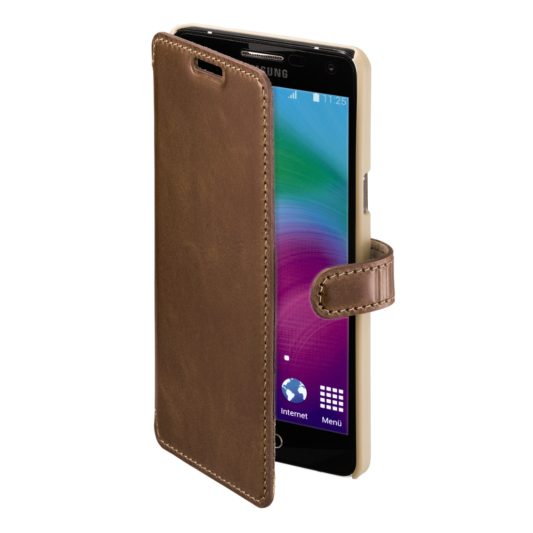 awx High-Res Appliance - Hama, Prime Line Portfolio for Samsung Galaxy A5, country brown