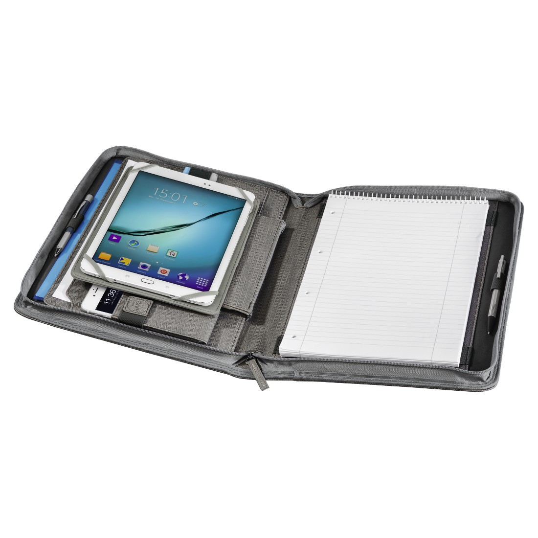 awx3 High-Res Appliance 3 - Hama est. 1923, Hannover Tablet Organizer A4, light grey