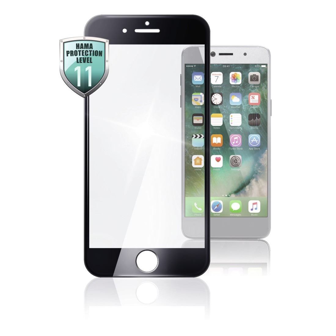 abx High-Res Image - Hama, 3D Full Screen Glass Protector for Apple iPhone 6/6s, black