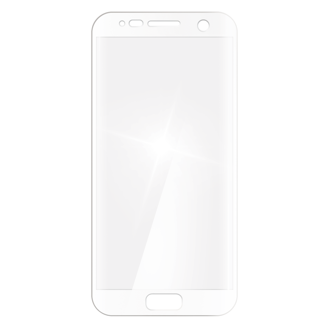 abx2 High-Res Image 2 - Hama, 3D Full Screen Glass Protector for Samsung Galaxy S7, white