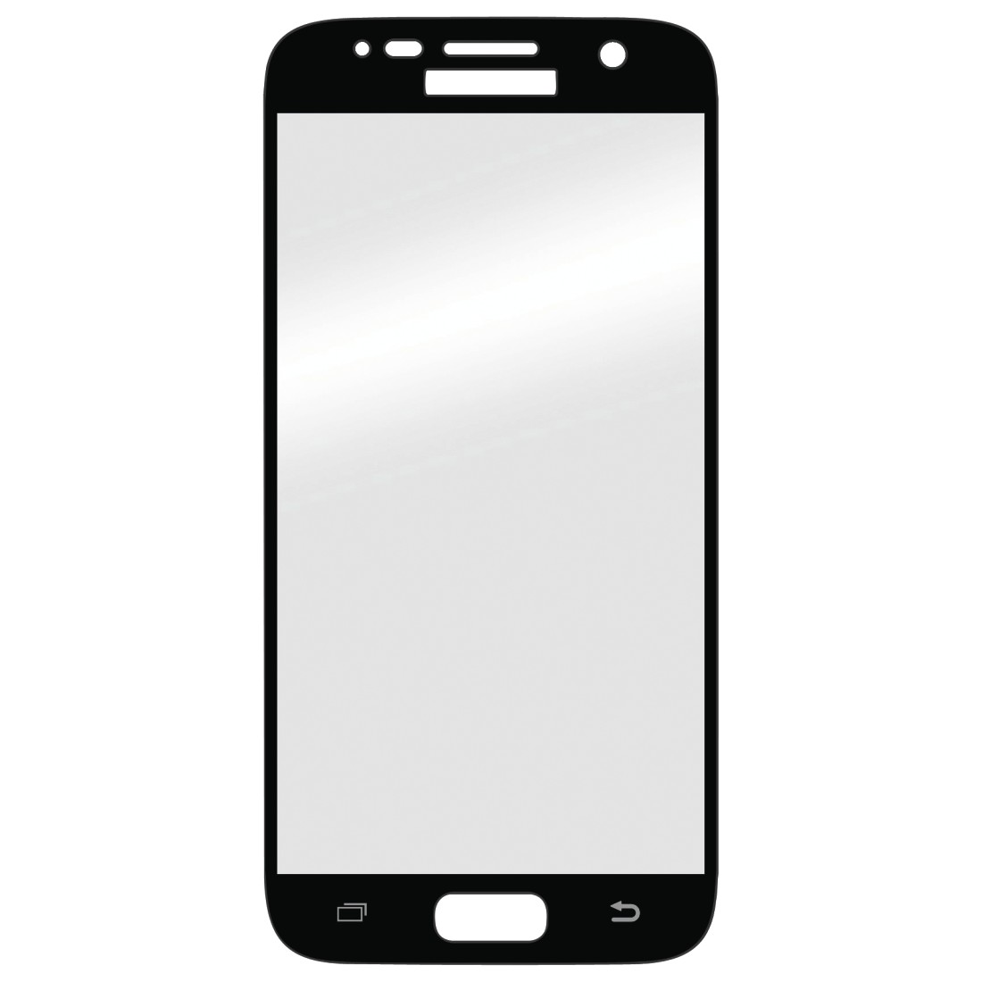 abx High-Res Image - Hama, 3D Full Screen Glass Protector for Samsung Galaxy S6, black