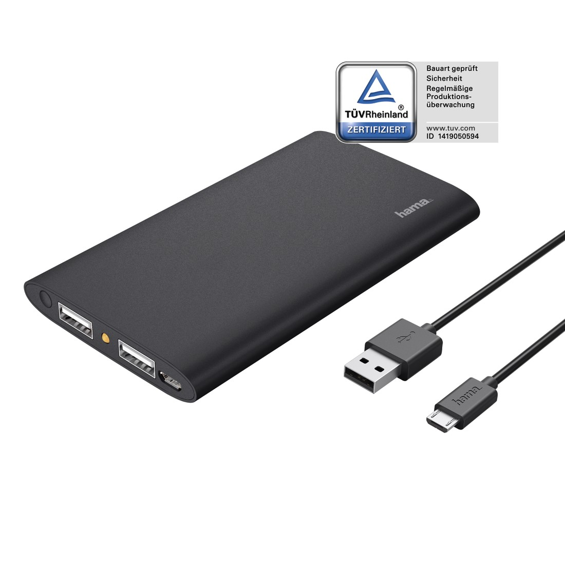 uax2 Printable Image Logo 2 - Hama, Premium Alu Power Pack, 5000 mAh, anthracite