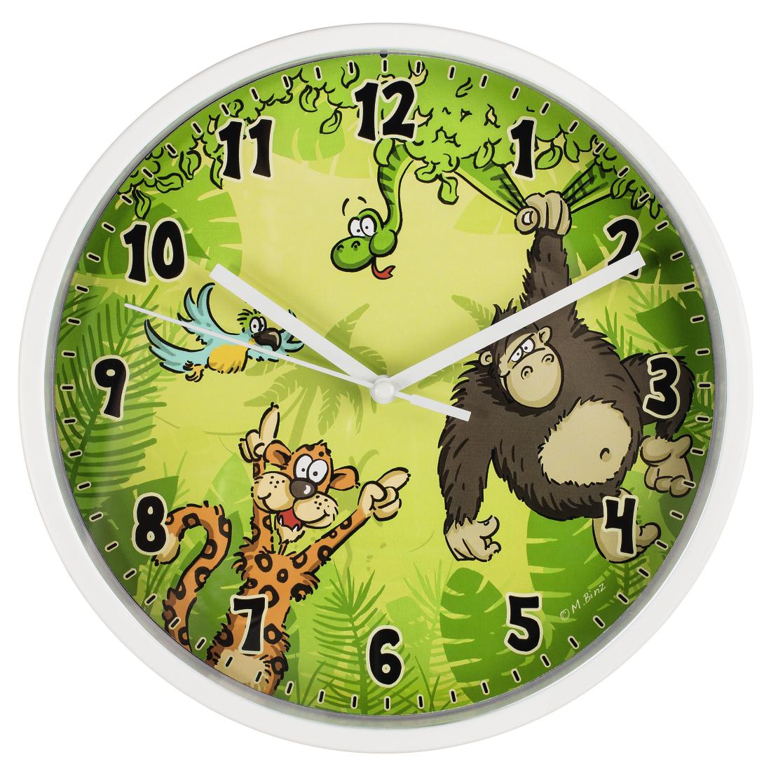 Hama 00176918 Hama Jungle Childrens Wall Clock Diameter