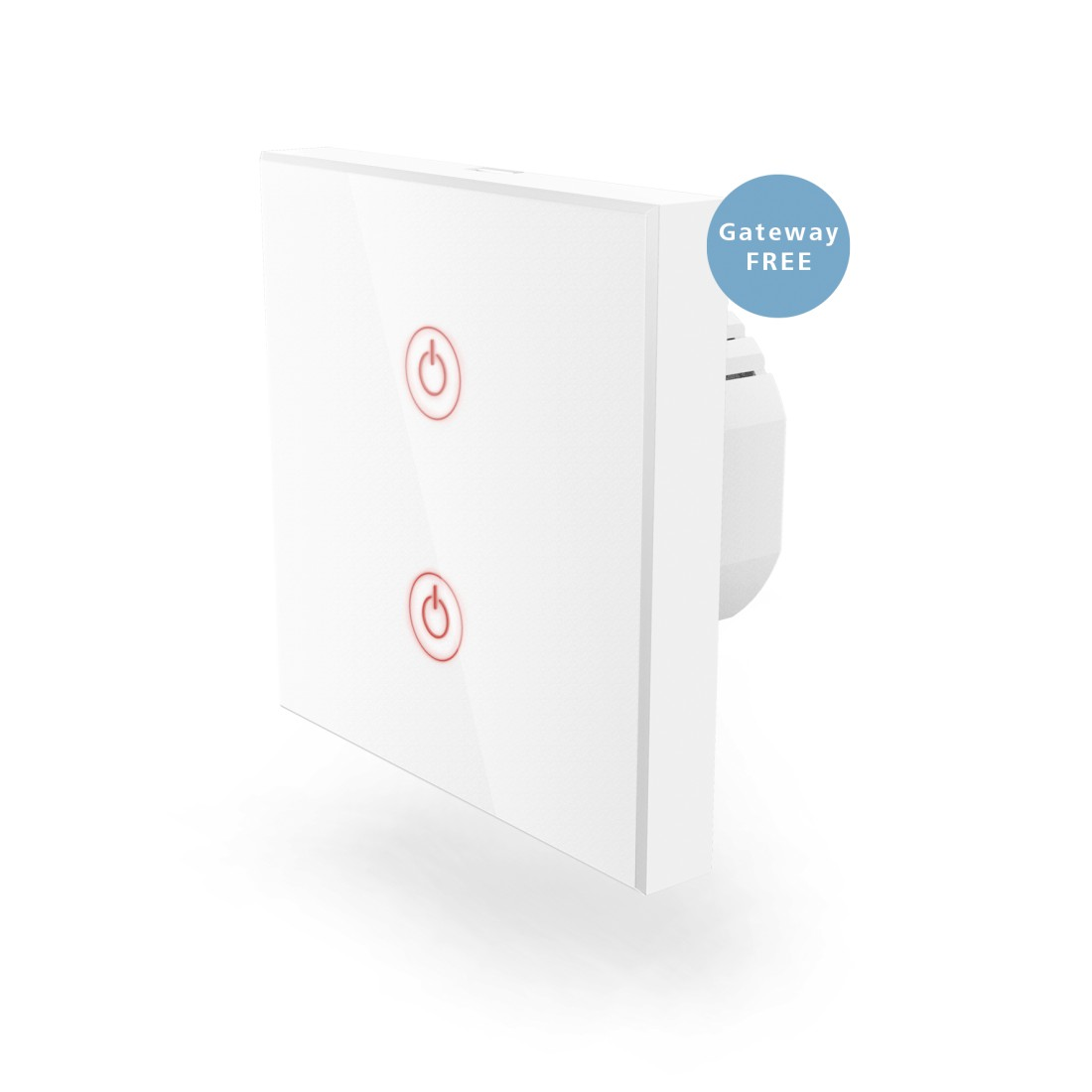 uax Printable Image Logo - Hama, WiFi Touch Wall Switch, Flush-mounted, white